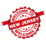 Welcome to New Jersey stamp Stock Photo