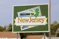 Welcome to New Jersey Royalty Free Stock Photo