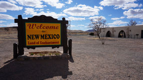 Welcome to New Mexico board Stock Image