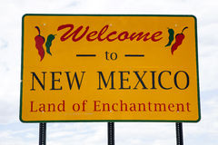 Welcome to New Mexico. Road sign at the state border Royalty Free Stock Images