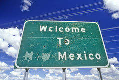Welcome to New Mexico Sign Royalty Free Stock Photography