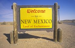 Welcome to New Mexico Sign Stock Photo