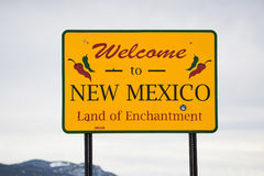 Welcome to new mexico sign Stock Photos