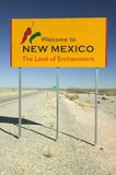 Welcome to New Mexico state sign, The Land of Enchantment Royalty Free Stock Photo