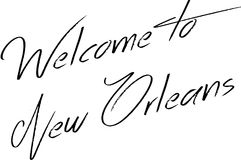 Welcome to New Orleans text illustration Stock Image