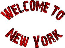 Welcome to New York Text Sign Royalty Free Stock Images