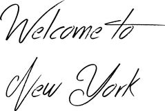 Welcome to New York Text Sign. Welcome to New York city text sign on white Background Royalty Free Stock Images