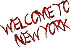 Welcome to New York Text Sign. Welcome to New York city text sign on white Background Stock Images