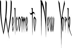 Welcome to New York Text Sign. Welcome to New York city text sign on white Background Royalty Free Stock Photography