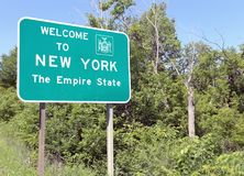 Welcome to New York The Empire State Stock Photo