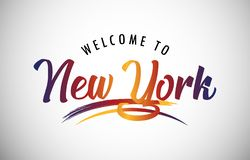 Welcome to New York stock illustration