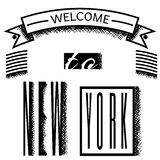 Welcome to new york poster Royalty Free Stock Photo