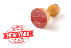 Welcome to New York. A rubber stamp on a white background - Welcome to New York Royalty Free Stock Photography
