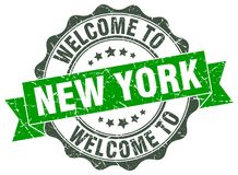 Welcome to New York seal. Welcome to New York round vintage seal Royalty Free Stock Photography