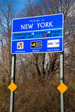 Welcome to New York Sign. Welcome to New York State travel tourism sign at Orient Point on Long Island Royalty Free Stock Image