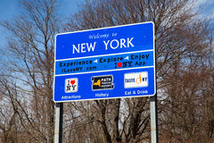 Welcome to New York Sign Stock Images
