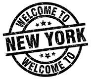 Welcome to New York stamp. Welcome to New York round grunge stamp isolated on white background. New York. welcome to New York stock illustration
