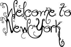 Welcome to New York Text Sign Stock Image