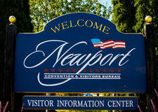 Welcome to Newport. Stock Photo
