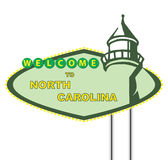 Welcome to north carolina. Road sign on a white background. welcome to north carolina Royalty Free Stock Photo