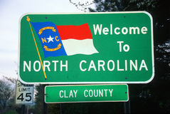 Welcome to North Carolina Sign Royalty Free Stock Photo