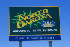 Welcome to North Dakota Sign Stock Image