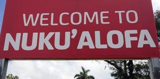 Welcome to Nuku'alofa Stock Photography