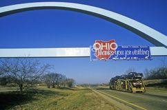 Welcome to Ohio Sign stock photo
