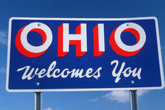 Welcome to Ohio Sign. Against the sky royalty free stock photo