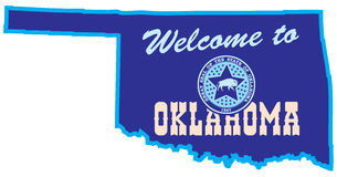 Welcome to Oklahoma Royalty Free Stock Photo