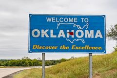 Welcome to Oklahoma Sign stock photos