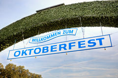 Welcome to Oktoberfest Royalty Free Stock Photo