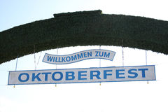 Welcome to Oktoberfest. Greetings sign at oktoberfest in munich Stock Images
