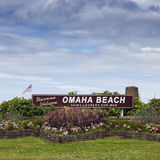 Welcome to Omaha Beach Royalty Free Stock Photo