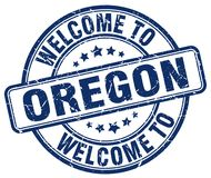 Welcome to Oregon stamp. Welcome to Oregon round grunge stamp isolated on white background Royalty Free Stock Photo