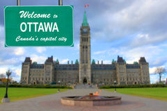 Welcome to Ottawa sign Royalty Free Stock Photography