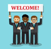 Welcome to our business team Stock Photo
