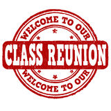 Welcome to our class reunion stamp Stock Image