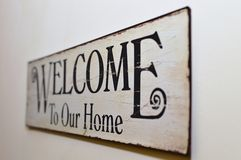 Welcome to our home Royalty Free Stock Image