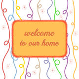 Welcome to our home vector illustration Stock Image