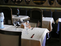 Welcome to our Resto 2. Free table at an Italian restauraunt in Tallinn, Estonia Stock Photo