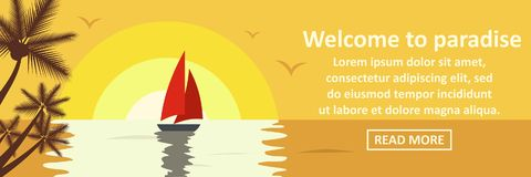 Welcome to paradise banner horizontal concept Royalty Free Stock Photos