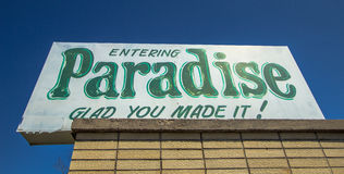 Welcome To Paradise Michigan Royalty Free Stock Images