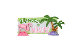 Welcome to Paradise Royalty Free Stock Images