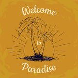 Welcome to Paradise t-shirt graphic Royalty Free Stock Image