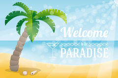 Welcome to the paradise Stock Images