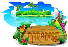 Free Welcome To Paradise (vector) Royalty Free Stock Image - 75012826