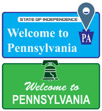 Welcome to Pennsylvania Royalty Free Stock Photography
