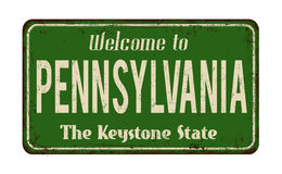 Welcome to Pennsylvania vintage rusty metal sign Stock Image