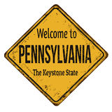 Welcome to Pennsylvania vintage rusty metal sign Royalty Free Stock Photos